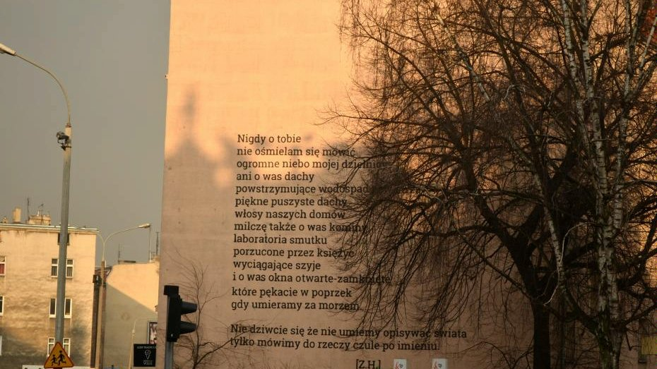 Poezja Na Poznańskich Murach Kolejna Odsłona Na łazarzu