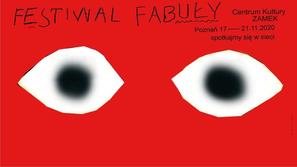 Plakat zapowiadający wydarzenie. Widać na nim nazwę, datę i miejsce festiwalu oraz rysunek oczu. - grafika artykułu