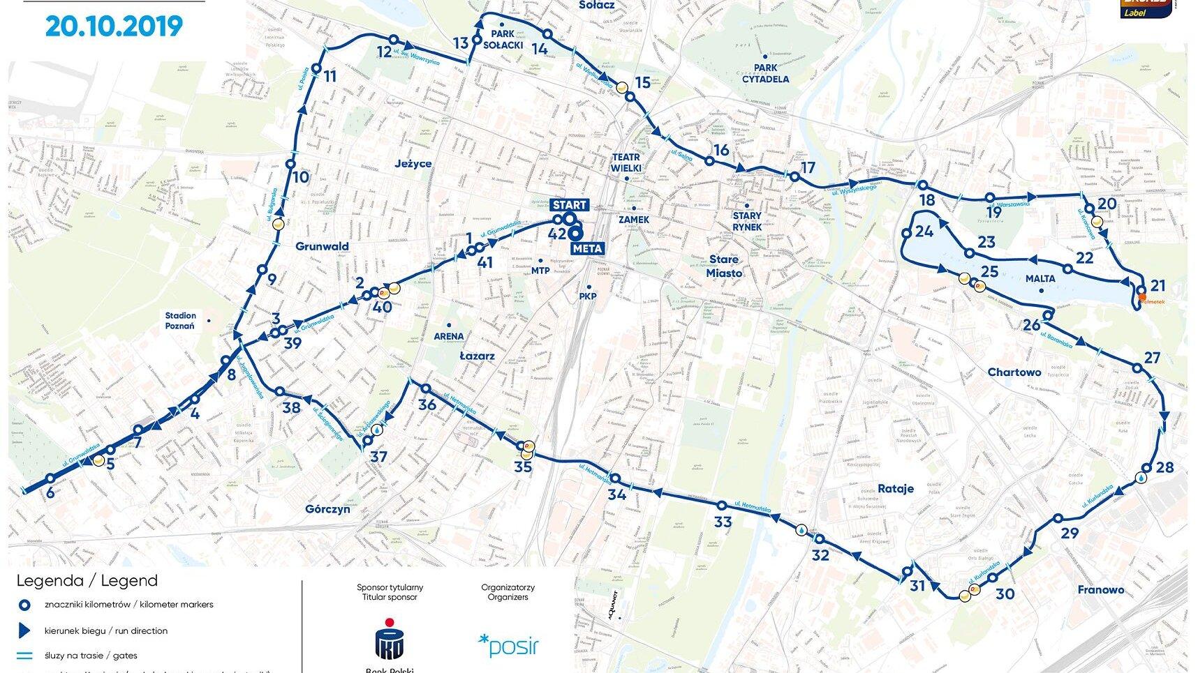 Trasa 20. Poznań Maraton