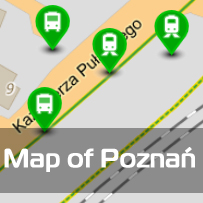 map of Poznań
