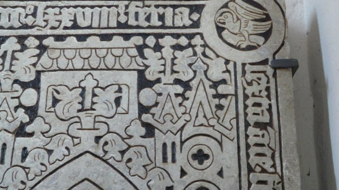 Medieval Tombstone recreated by AMU chemists (after renovation) - photo: AMU