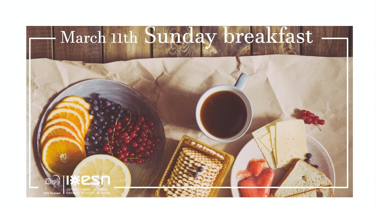 Sunday breakfast with ESN Poznań