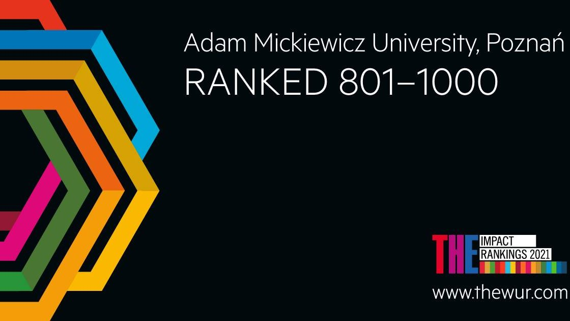 UAM w Times Higher Education Impact Rankings 2021 - grafika artykułu