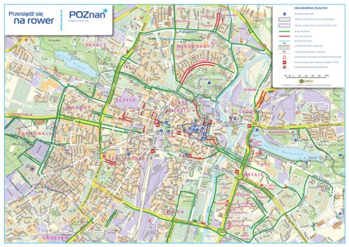bicycle map map of poznań for entusiasts ...