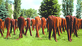 Sculptures of Magdalena Abakanowicz. Photo M. Kuszela
