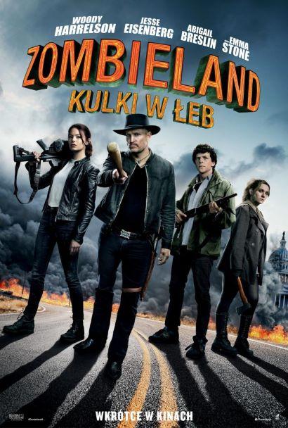 Plakat filmu Zombieland: kulki w łeb